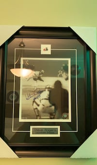 Steve Rogers signed frame. Montreal Expos