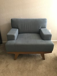 Blue/gray fabric padded sofa chair Sacramento, 95831
