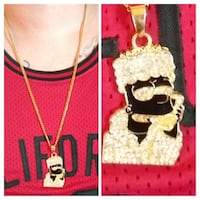 Hood Bart Simpson pendent & 30in Cuban link. Both stainless steel. Glen Burnie