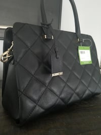 Kate Spade black quilted handbag with gold detailing VANCOUVER