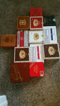 Solid Wooden Cigar Boxes  88 mi