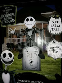 The Nightmare before Christmas medium sized airblown inflatable.