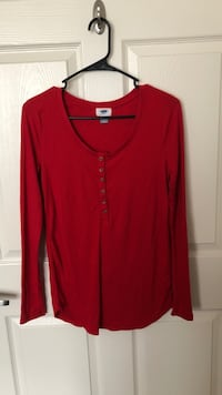 red scoop-neck long-sleeved shirt Louisville, 40208