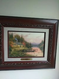 brown wooden framed painting of trees Gaithersburg, 20878