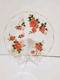 Chance Sovereign Rose Flutted Glass Plate Pickering, L1V 1B8