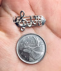 New Real sterling silver 925 music bar notes treble clef charm Brampton, L6R 2C5