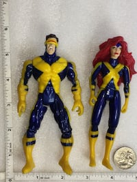 1997 ToyBiz Marvel's Famous Couples Jean And Cyclops Action Figures  $10 Pu in Franklin  Franklin, 46131