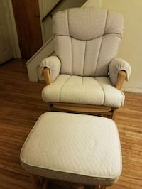 fabric padded glider/recliner chair and ottoman Rochester, 14616