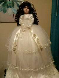 "Quiencenera doll w/white dress is 25"" tall - NEW! Houston, 77042"