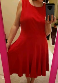 Calvin Klein red party dress 18W