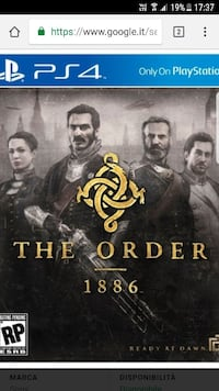Sony PS4 The Order 1886 game case Palermo, 90146