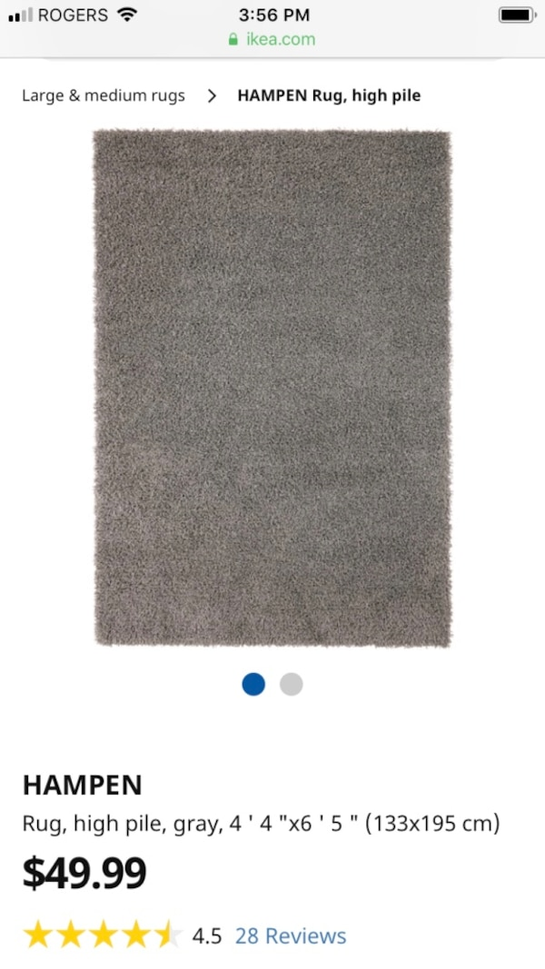 Used Hampen Ikea Rug for sale for sale