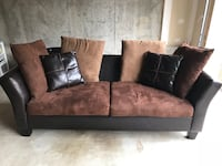 Brown and black fabric 2-seat sofa Ashburn, 20148