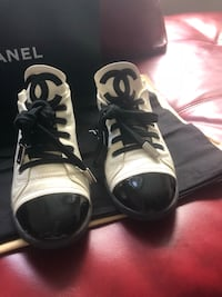 Pair of black-and Winter white Chanel sneakers  Washington, 20019