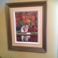 "Vintage handmade painting on canvas with wood frame,21""x25"", with the frame . Brossard, J4Y 2J7"
