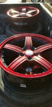 red and white 5-spoke car wheel Holtville, 92250