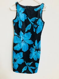 women's blue and black floral sleeveless dress Patterson, 95363