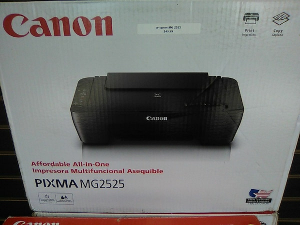 Used Canon Pixma Mg2525 Desktop Printer Box For Sale In Sumter Letgo