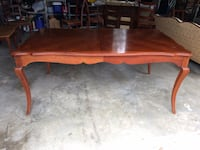 French Country Cherry Dining Table w/ 8 chairs 3 km