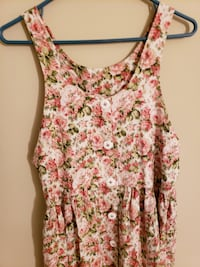 Rose Floral Overall Dress Alexandria