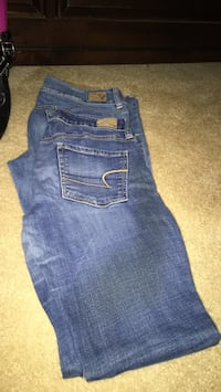 blue denim straight-cut jeans Fort Myers, 33913