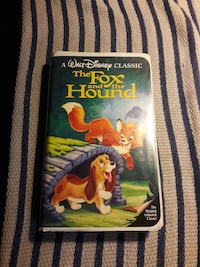 The Fox and the hound Disney vhs black diamond  Summerville