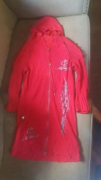 red and white zip-up jacket Vernon, V1T 3L7