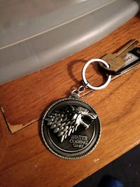 Game Of Thrones Winter Is Coming Key Chain