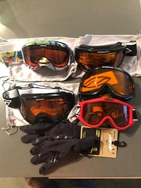 All together for $155 snow goggles and free brand new gloves