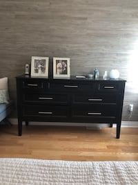 Dresser, two tables with scratches. Real wood, paid $4500 but has many scratches and mirror. Needs love.  Vaughan, L4H 0W3