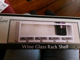 Brand new Wine glass rack shelf