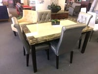 Faux Marble 5 PC.  Dining Table Set.  Brand New.  Houston, 77074