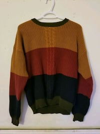 Colour block crew neck jumper Greater London, N1 6BY
