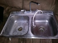 Kitchen sink with faucets and hose Indianapolis, 46217