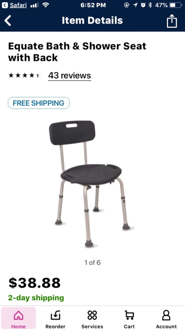 Used Black and gray shower chair for sale in Allen - letgo