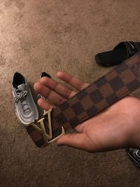 black and brown Louis Vuitton leather belt Chesapeake, 23321