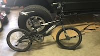 black and white BMX bicycle