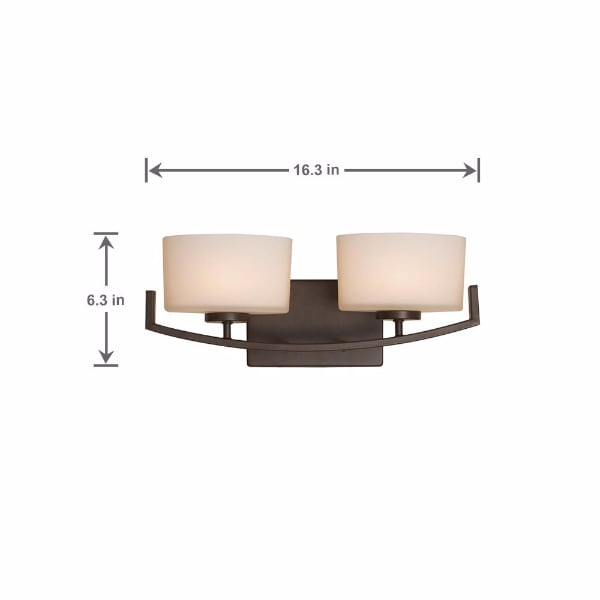 2-Light Oil Rubbed Bronze  Vanity Light