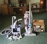 Kirby vacuum with shampooer. Lots of attachments. Works great...