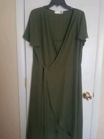 dark green dress size XL(16-18)