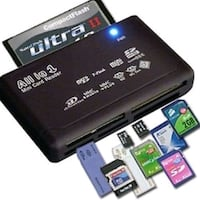 All-In-One Mini USB Memory Card Reader Great Mills, 20634