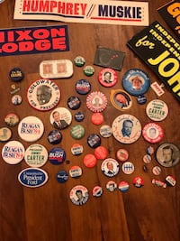 Campaign buttons, bumper stickers and literature. Chicago, 60607