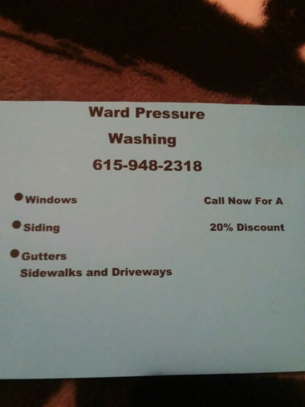 Home and business pressure washing company.