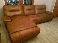 brown leather 3-seat recliner sofa Gainesville, 32605