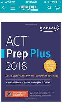 Act prep book 2018 edition (new)
