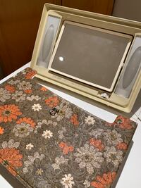 Vintage makeup mirror with light