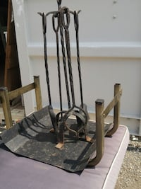 Oakville Retro Fireplace Tools Wrought Iron Brass  Oakville, L6L 6R9