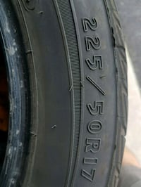 black auto tire with tire Whitby, L1R 2N7