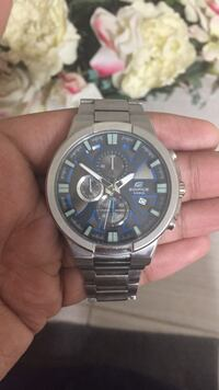 Silver authentic Casio watch worn only a couple times ( willing to sell for cheap ) Edmonton, T6X 1V7