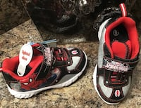 Spiderman toddler's gray, black, red & white runners- lights up, brand new with tag Calgary, T2J